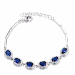 💎 Gorgeous NEW sapphire sterling silver bracelet